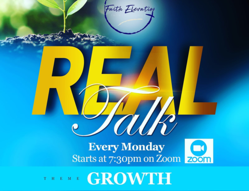 "Join Pastor Dwight Wise on Zoom Mondays @ 7:30P for ""Real Talk"""