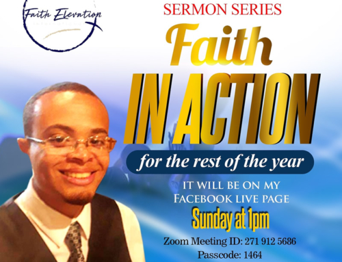 "Join Pastor Dwight Wise on Zoom and Facebook Live Sundays @ 1P for ""Faith In Action"""