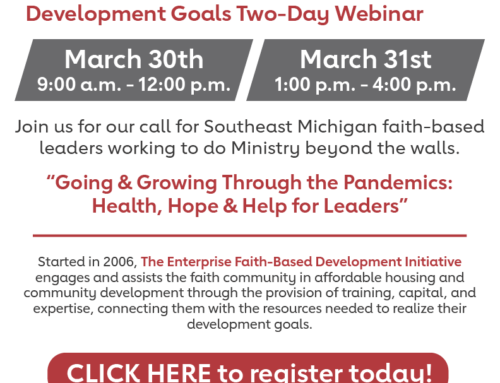 Register for FREE faith-based development initiative for SE MI leaders