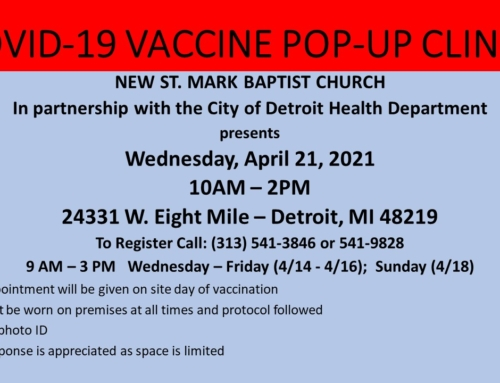 COVID-19 Vaccine Pop-Up Clinic @ New St. Mark Baptist Church