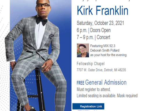 DTE Energy welcomes KIRK FRANKLIN for 12th Annual Hallelujah for Heat Concert (F*R*E*E)